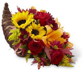 Fall Harvest Cornucopia  -A local Pittsburgh florist for flowers in Pittsburgh. PA