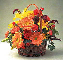 Autumn Garden Basket -A local Pittsburgh florist for flowers in Pittsburgh. PA