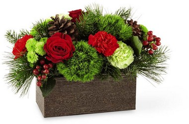 Christmas Cabin Bouquet -A local Pittsburgh florist for flowers in Pittsburgh. PA