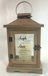 Angels Are Sent From Heaven Lantern (Brown) -A local Pittsburgh florist for flowers in Pittsburgh. PA