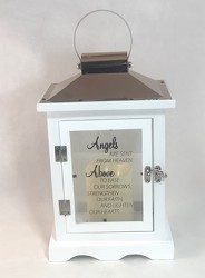 Angels Are Sent From Heaven Lantern (White) -A local Pittsburgh florist for flowers in Pittsburgh. PA