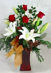 Christmas Elegance Vase -A local Pittsburgh florist for flowers in Pittsburgh. PA