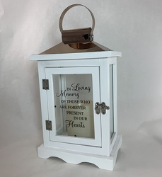 In Loving Memory Lantern (White) -A local Pittsburgh florist for flowers in Pittsburgh. PA