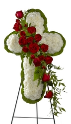 Floral Cross Easel -A local Pittsburgh florist for flowers in Pittsburgh. PA