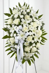 Exquisite Tribute Standing Spray -A local Pittsburgh florist for flowers in Pittsburgh. PA