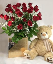 True Love 2 Dozen Roses Package -A local Pittsburgh florist for flowers in Pittsburgh. PA