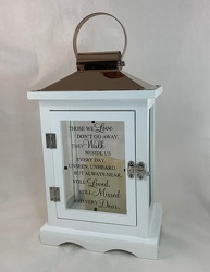 Walk Beside Us Lantern (White) -A local Pittsburgh florist for flowers in Pittsburgh. PA