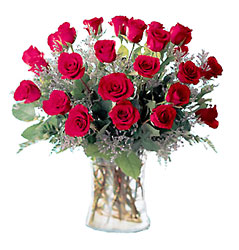Valentine Vase of 24 Roses -A local Pittsburgh florist for flowers in Pittsburgh. PA