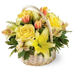 Garden Spring Basket -A local Pittsburgh florist for flowers in Pittsburgh. PA