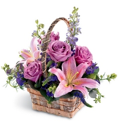 Softly Summer Basket -A local Pittsburgh florist for flowers in Pittsburgh. PA
