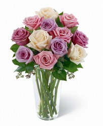 Pastel Passion Rose Bouquet -A local Pittsburgh florist for flowers in Pittsburgh. PA