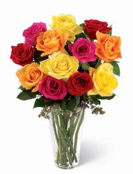 Bright Spark Rose Bouquet -A local Pittsburgh florist for flowers in Pittsburgh. PA