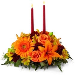 Bright Autumn Centerpiece -A local Pittsburgh florist for flowers in Pittsburgh. PA