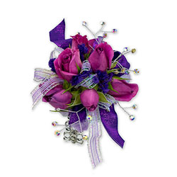Royal Purple Wrist Corsage -A local Pittsburgh florist for flowers in Pittsburgh. PA