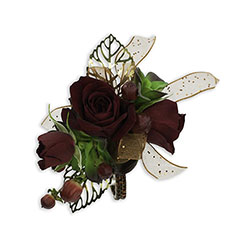Ruby Metallic Wrist Corsage -A local Pittsburgh florist for flowers in Pittsburgh. PA