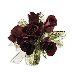 Golden Ruby Wrist Corsage -A local Pittsburgh florist for flowers in Pittsburgh. PA