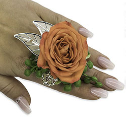 Tangerine Floral Ring -A local Pittsburgh florist for flowers in Pittsburgh. PA