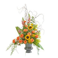 Heaven's Sunset Large Urn -A local Pittsburgh florist for flowers in Pittsburgh. PA
