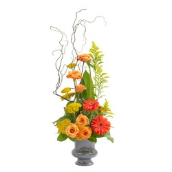 Heaven's Sunset Small Urn -A local Pittsburgh florist for flowers in Pittsburgh. PA