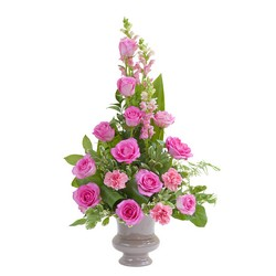 Peaceful Pink Small Urn  -A local Pittsburgh florist for flowers in Pittsburgh. PA