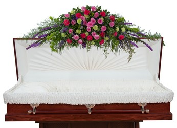 Forever Cherished Overhead Casket Spray -A local Pittsburgh florist for flowers in Pittsburgh. PA