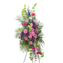 Forever Cherished Easel Spray -A local Pittsburgh florist for flowers in Pittsburgh. PA