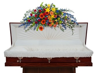 Treasured Celebration Overhead Casket Spray  -A local Pittsburgh florist for flowers in Pittsburgh. PA