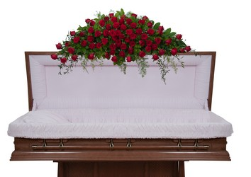 Royal Rose Overhead Casket Spray -A local Pittsburgh florist for flowers in Pittsburgh. PA