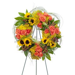 Heaven's Sunset Wreath -A local Pittsburgh florist for flowers in Pittsburgh. PA